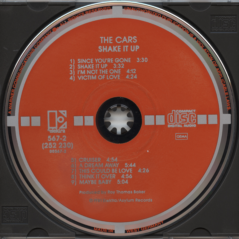 The Cars Shake It Up Cd