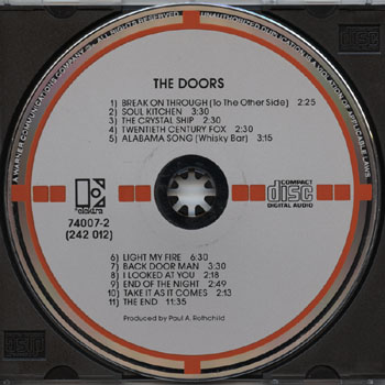 Homeu003eRecording Categoriesu003eTarget CDsu003eDoors Theu003eDoors The. & Target CDs / Doors The : Doors The