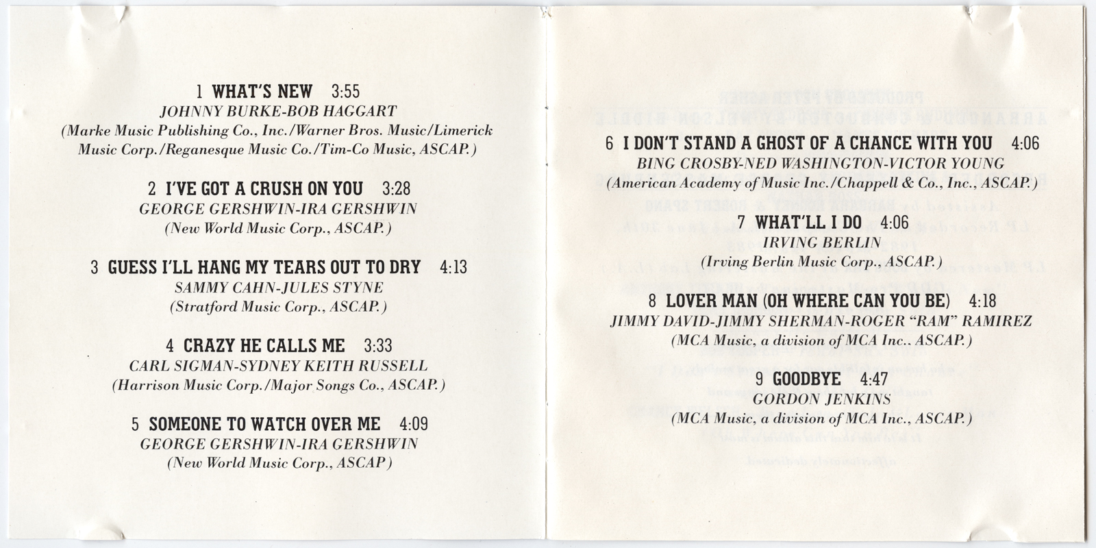 Target Cd Ronstadt Linda Whats New V005 Johnny 5 Bing Images Insert Panels 4 And