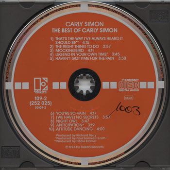 Carly Simon-The Best Of Carly Simon